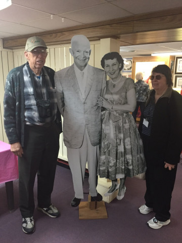 Photo op with Ike and Mamie in Boone, Iowa