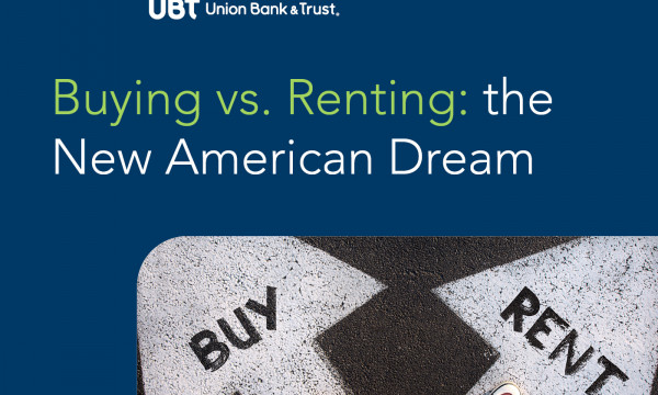 Text: buying vs renting, the new american dream